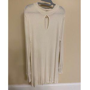 Free People White Long Sleeve Dress
